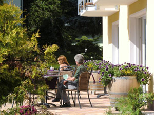 Terrasse Pension Will Ahlbeck